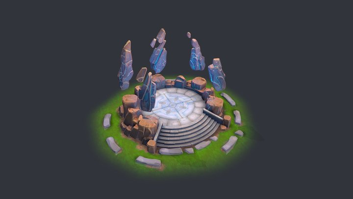 Aether Ruins 3D Model