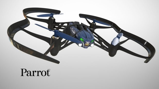 Parrot maclane airborne nigh drone 3D Model