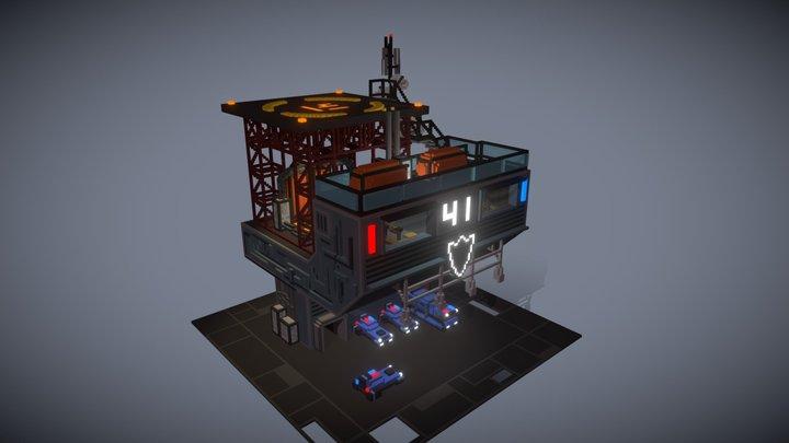 Precinct 41 - Industries of Titan fan art 3D Model