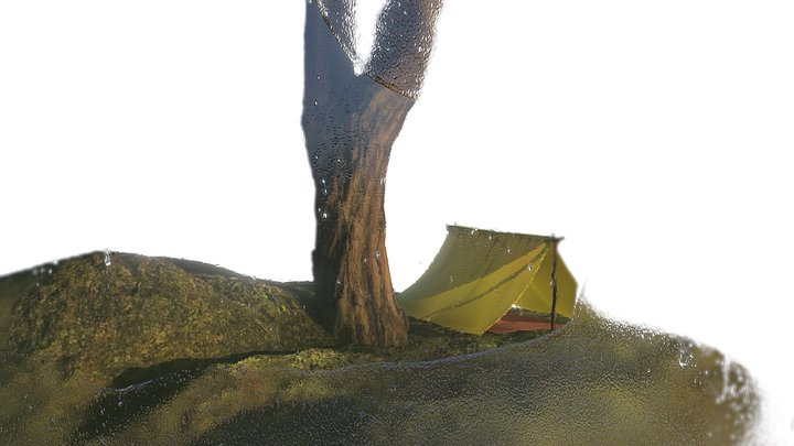 Tent Tree Test Tube Terrarium 3D Model