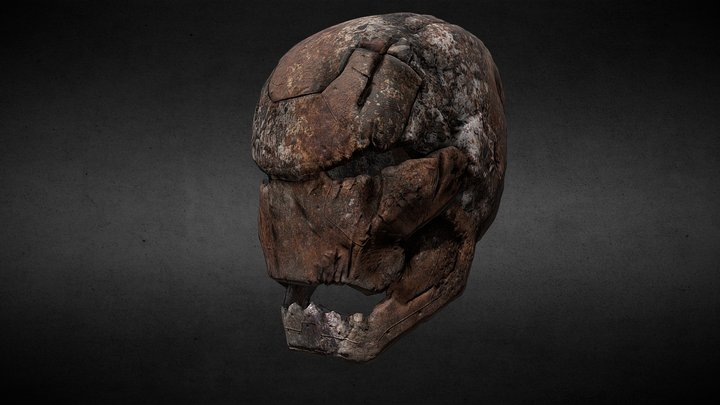 Rusty Iron Mask 3D Model