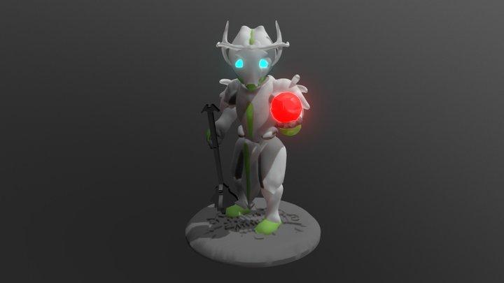 Oberon Mini Figure Pose1 3D Model