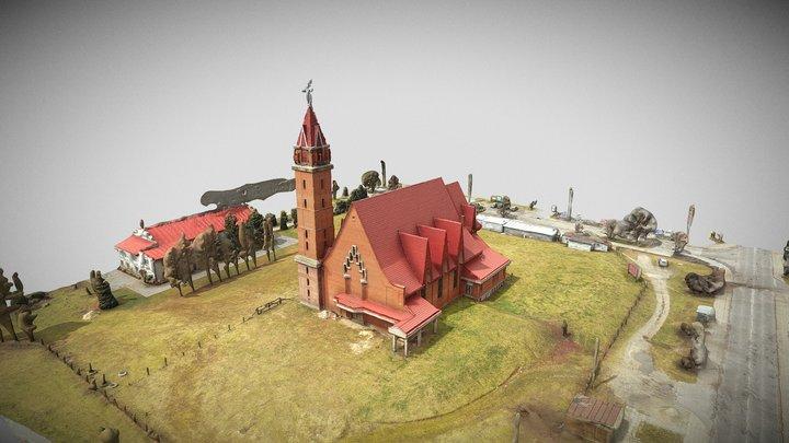 Kościół Aleksandrów 3D Model
