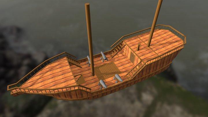 Small Galleon 3D Model