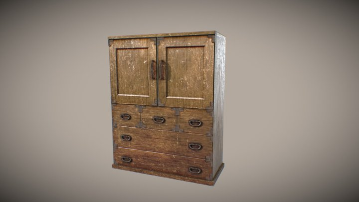 cupboard from Japanese traditional 3D Model