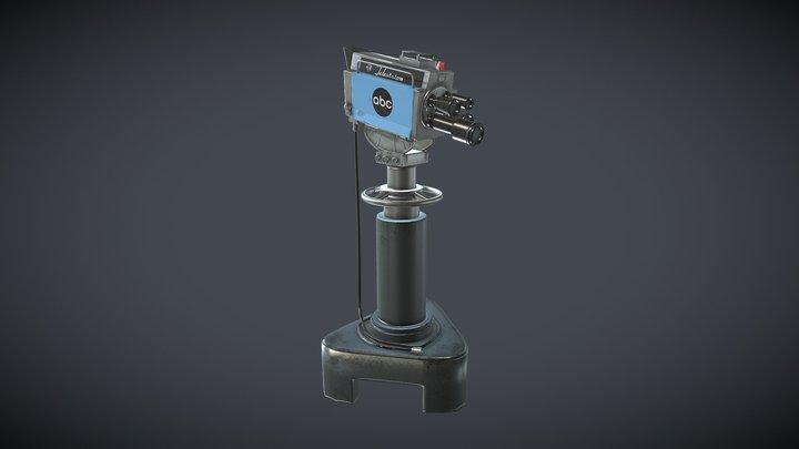 60's ABC television camera 3D Model