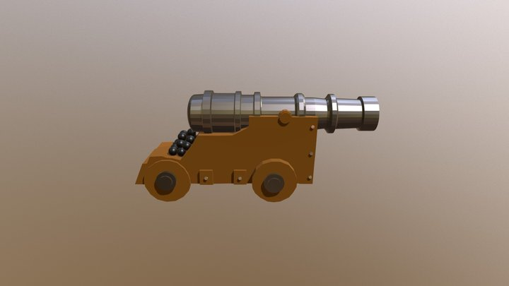 Pirate Ship Cannon 3D Model