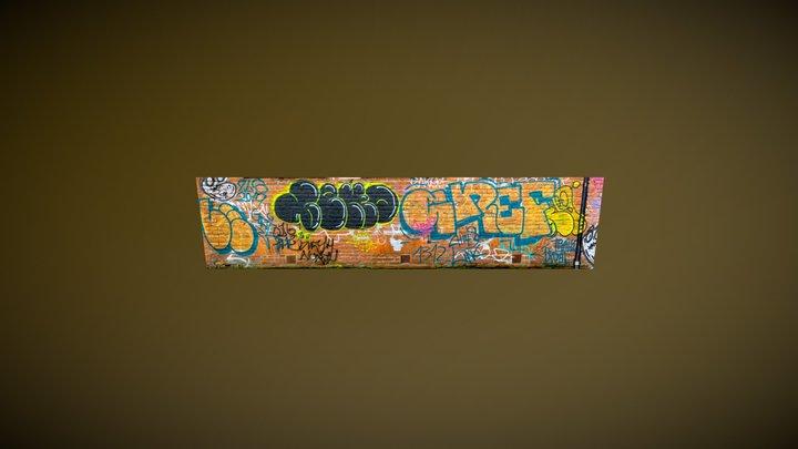 Manchester Graffiti 3D Model
