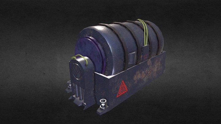 Old generator (GAME ASSET) 3D Model