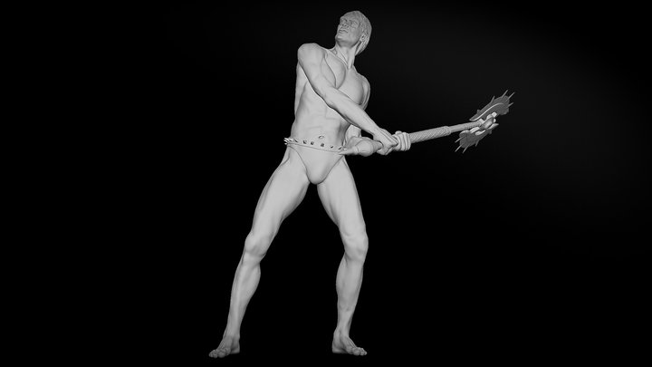 Barbarian (Anatomy Study) 3D Model