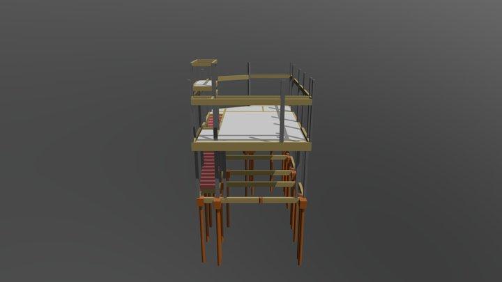 Estrutura 3D - Construção de uso misto 3D Model