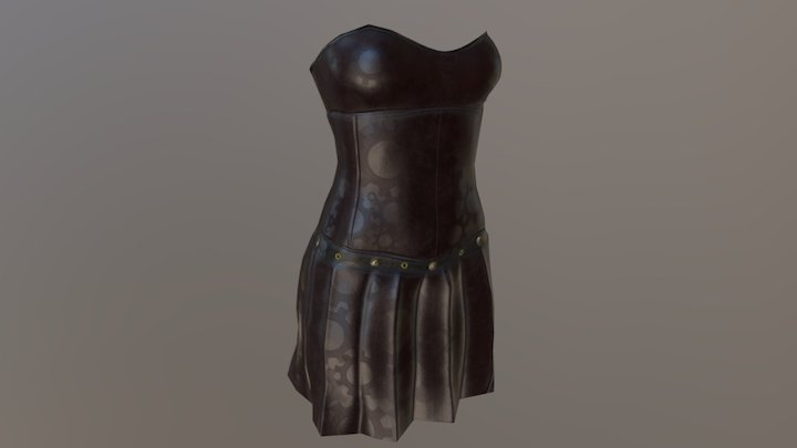 Steampunkish Corset And Skirt 3D Model