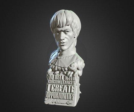 Sculptory Bruce Lee M Thin 01 3D Model