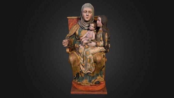 Santa Ana, la Virgen y el Niño. Pedrera. 3D Model