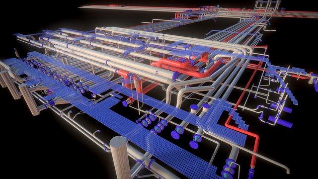 Terminal pétrolier 3D Model