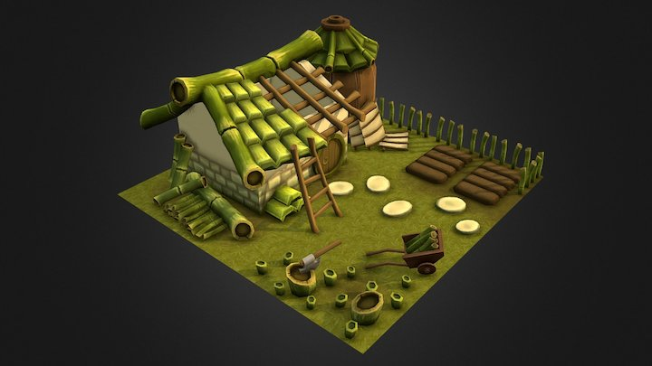 Bamboo Farm in construction 3D Model