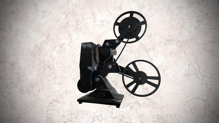 Proyector cinematográfico Pathéscope de 9.5mm 3D Model