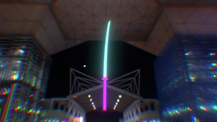 Crystalic Katana 3D Model