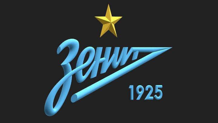 F.C. Zenit Saint Petersburg badge 3D Model