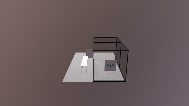 10 x 10 x 20 Drone Cage 3D Model
