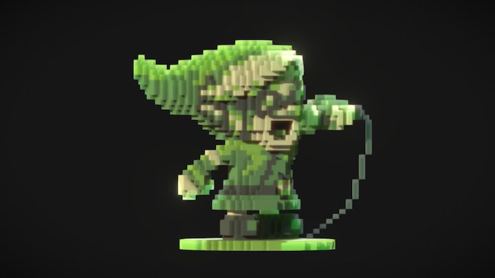 Pixel Link - Hero of Rhyme 3D Model
