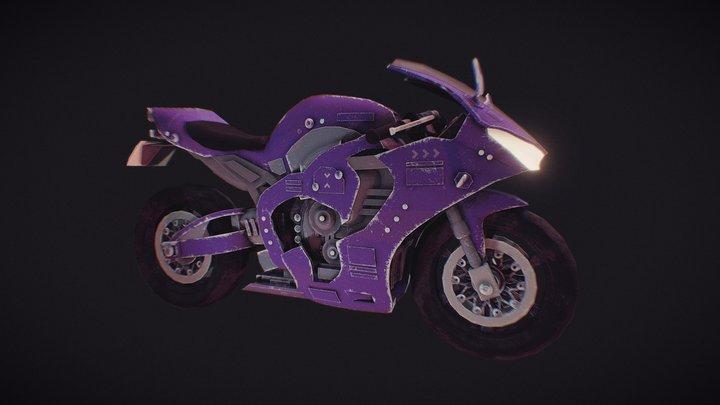 Futuristic Bullet Bike 3D Model