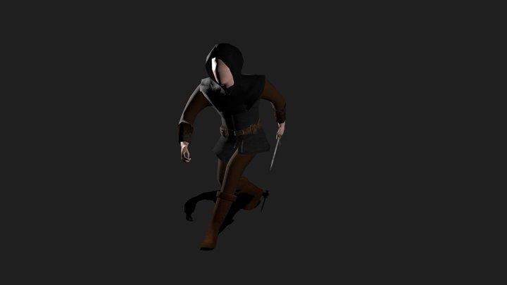Assassin Sneaking 3D Model