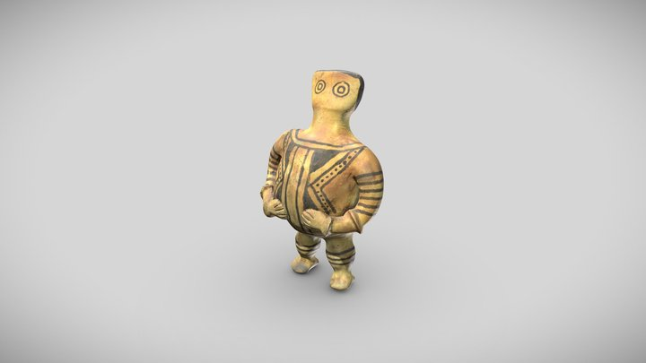Litxoo statuette : the mythical being KBOI 3D Model
