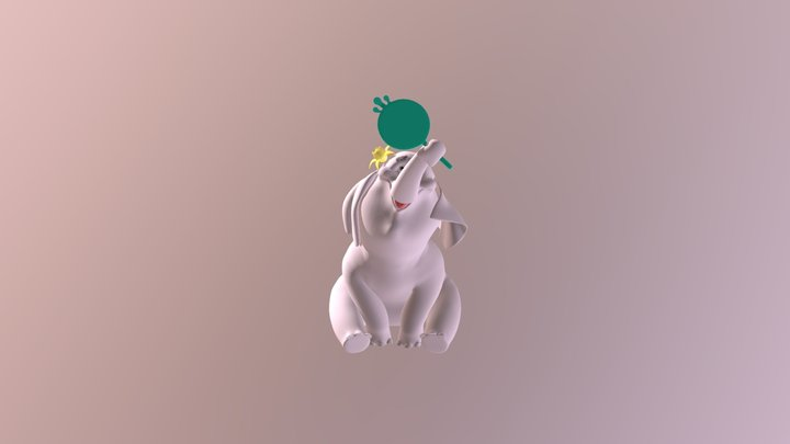 Elephant 2 3D Model