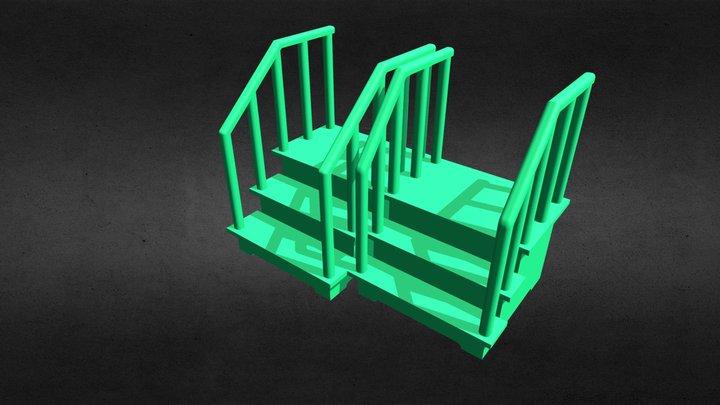 ladder for the child /Лестница для малыша 2 в 1 3D Model