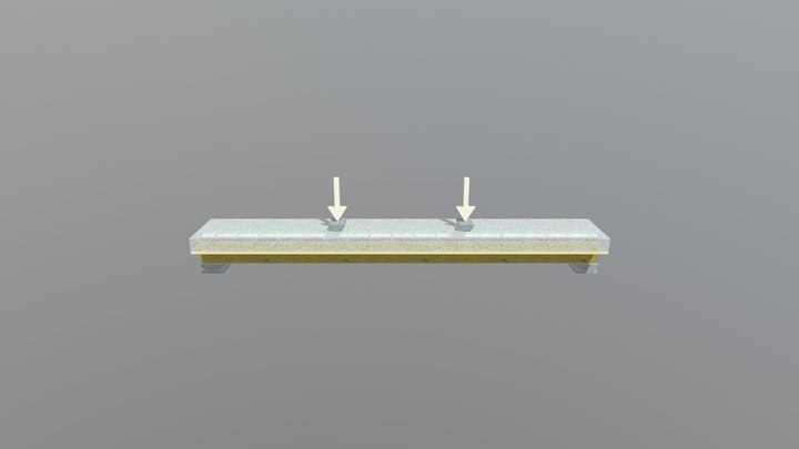 Wood-concrete beam 3D Model