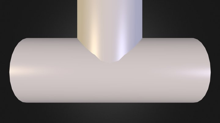 T-Line Pipe 3D Model