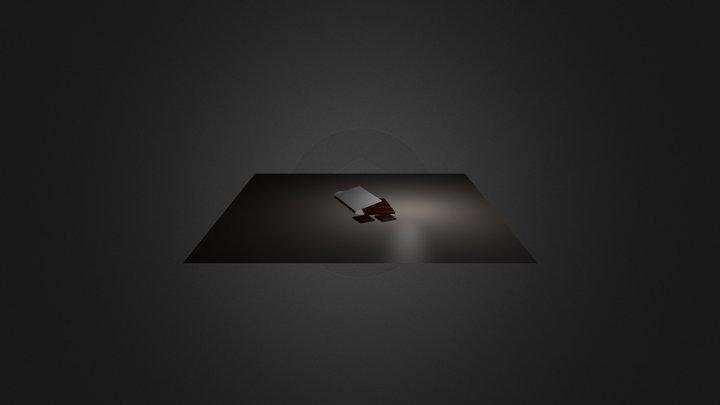 Tablette de chocolat 3D Model