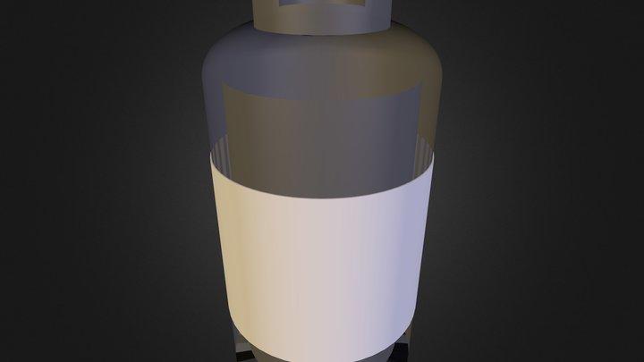 Fictional Pill Bottle 3D Model
