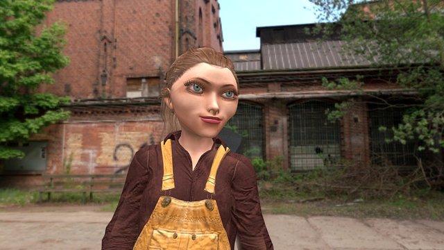 Mechanic Girl from iClone 3D Model
