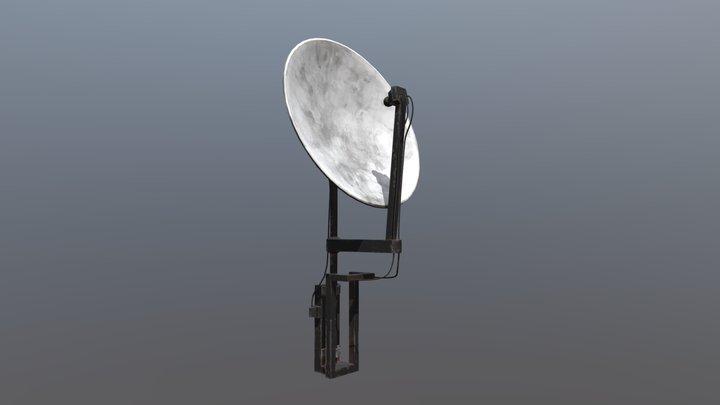 Old Scifi satellite dish 3D Model