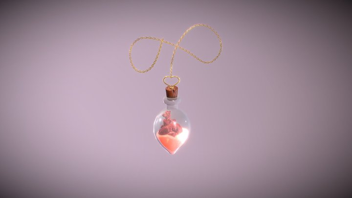 The Heart Potion 3D Model