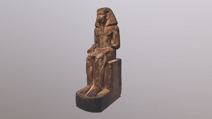 Egyptian statue of governor Wahka I. 3D Model