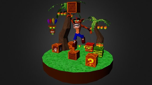 Crash Bandicoot - Diorama 3D Model