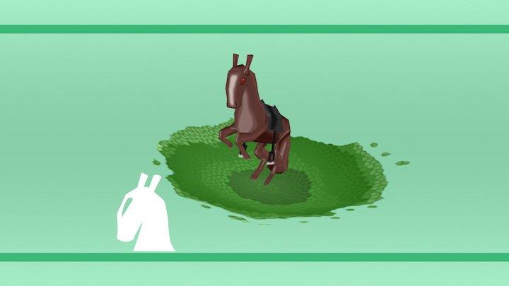 Horsey handpainted (animation) 3D Model