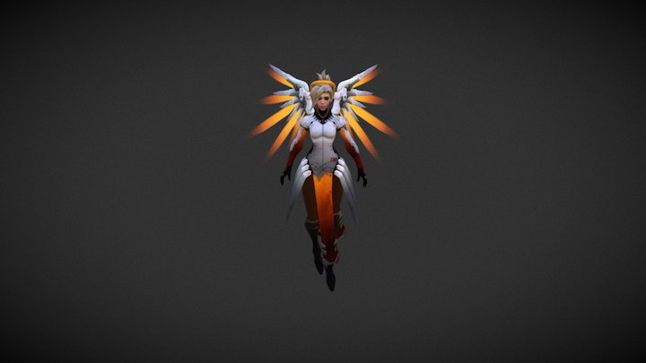 Mercy - character from Overwatch 3D Model