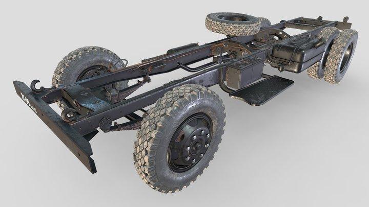 ZIS-150_1956_Frame+wheels. 3D Model