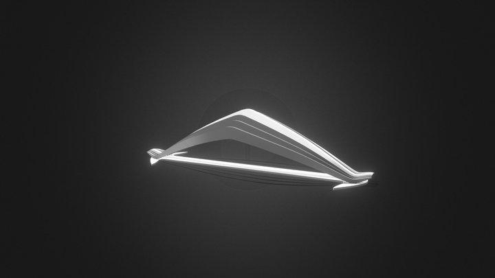 Manta - life inspired sculptural lamp 3D Model