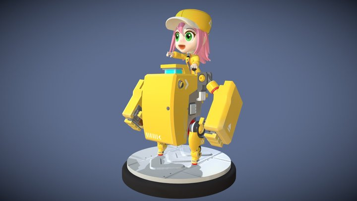 Adventurer & C0!! (colored version) 3D Model