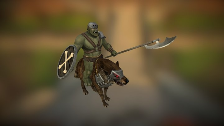 Orc Wolfrider 3D Model