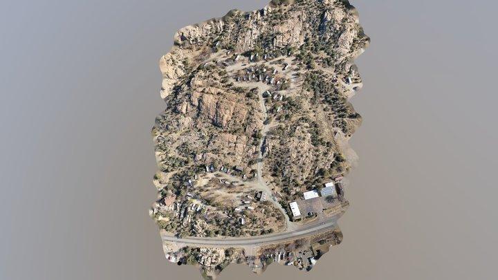 Final Point of Rocks Model 3D Model