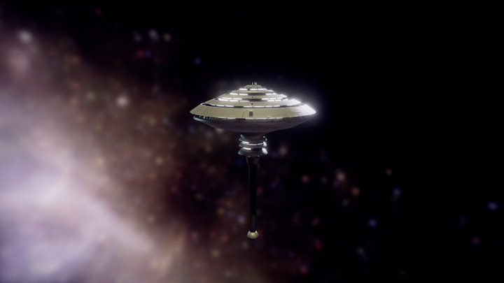 Orbital Station 3D Model
