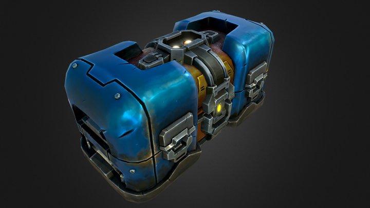 Metal Crate 3D Model