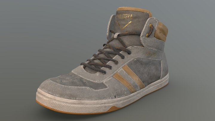 Used Gray Shoe (ShoesTexturingChallenge) 3D Model
