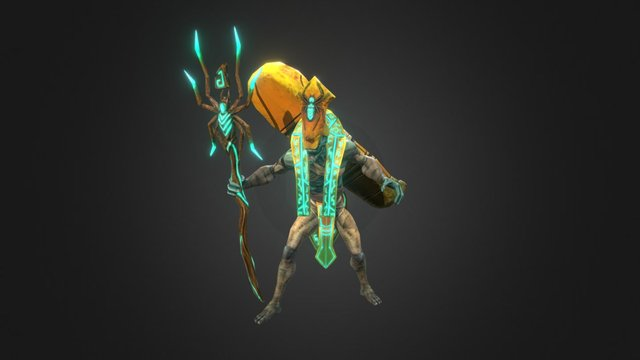 Spider from Siege Of Heroes 3D Model